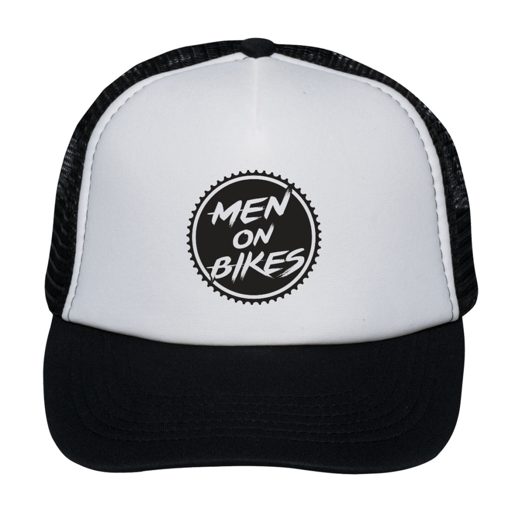 Men on Bikes in circle Trucker